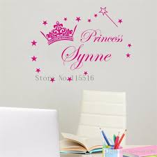 princess crown wall decor awesome d605 princess crown name custom wall stickers for kids room decor