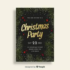 party invite templates free christmas party invitation template vector free download