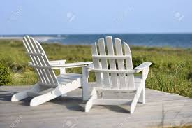 adirondack chairs on beach. Exellent Chairs Adirondack Chairs On Deck Looking Towards Beach Bald Head Island North  Carolina Stock With Chairs On Beach U