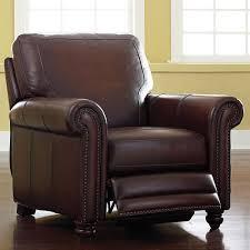 old world brown leather recliner  bassett furniture