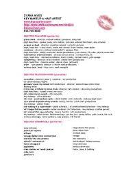 Beginner Makeup Artist Resume Essential Pics Sample Scholarschair