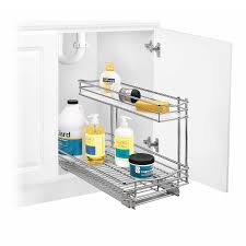 Tiered Shelves For Cabinets Lynk Roll Out Under Sink Cabinet Organizer Pull Out Two Tier