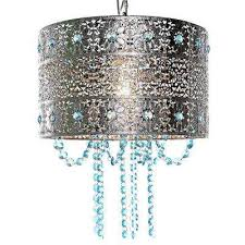 poetic wander by tracy porter 1 light silver and blue chandelier with cascading crystals and
