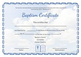 Baptism Certificate Editable Baptism Certificate Template In Adobe Photoshop Microsoft Word