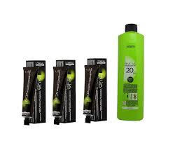 Loreal Inoa Permanent Colour Ammonia Free With Oil Developer 4 0 Brown 60ml 1000 Ml 3 Tube