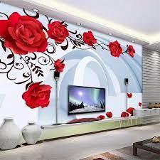 beibehang Custom wallpaper 3d mural red ...