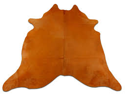 details about orange cowhide rug average size 7 x 6 ft dyed orange brazil cowhide skin rug