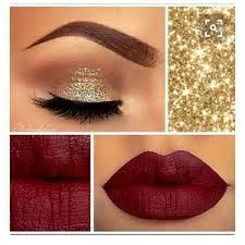 makeup sold glitter eyeshadow gold lipstick 33