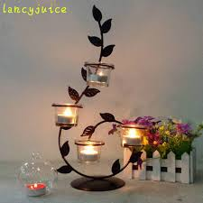 ethnic roses candle holders romantic candlelight dinner wrought iron candlestick pqzt04209