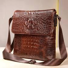 first layer cow skin 100 genuine leather bag for men crocodile style men s business messenge bag tablet pc handbag