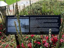 by jim linwood hermitage wharf riverside memorial garden signage wapping london by jim linwood