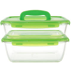 Lock & Lock 2-piece Glass Set with Handles - K45050