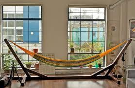 ... how to make indoor hammock stand ...