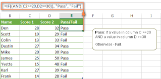 Excel If Statement With Multiple And Or Conditions Nested