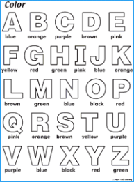 I created 26 alphabet sheet to help my preschool and kindergarten age student get a gentle introduction to phonics as they you can print all 26 alphabet pages, or just the letter of the week you are working on at th emoment. Color Abc Worksheet Maple Leaf Learning Library