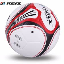 Soccer Ball Pattern Cool REIZ Football Soccer Ball 488CM Size 48 Circumference White Black