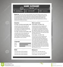 Extended Resume Template Resume Template Stock Vector Illustration Of Icon Employee