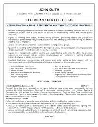 Sample Of Electrician Resumes Journeyman Electrician Sample Resume Podarki Co