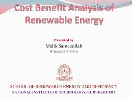 cost benefit analysis of renewable energy