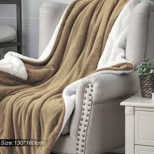 blanket 1pc flannel sherpa throws