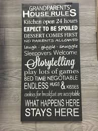 grandparents house rules sign wood sign wall art grandparent rules gifts for grandparents nana and papa sign decor wall plaque  on house rules wooden wall art with grandparents house rules sign wood sign wall art grandparent