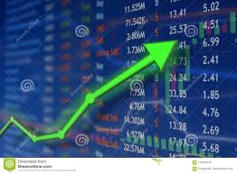 Stock Investment Chart Investing And Stock Market Concept Gain And Profits With