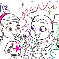 Coloring Page Disney Junior Vampirina Coloring Pages Dvd Giveaway