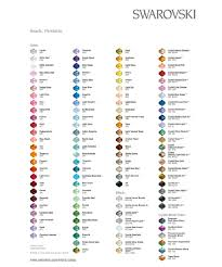 Swarovski Crystal Beads Colour Chart Click To Go To Site