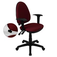 flash furniture mid back burdy fabric multi functional swivel task chair with adjule lumbar