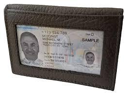 Duvalini Leather Bi Fold Cardcase Front Back Pocket Business Card