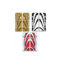 Mylec Goalie Pads Size Chart Details About New Dr Sonic X9 Sr Ice Hockey Goal Leg Goalie Pads 32 33 Red Blue Gold Black