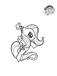 Kleurplaat My Little Pony Fluttershy Bday Kleurplatennl