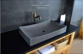 27 stone vessel sink gray natural bathroom basalt stone toji