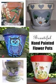 fine art hand painted flower pots clay pot crafts