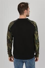 <b>Mens Camouflage Camo Block</b> Raglan <b>Sweatshirt</b> Top | Raglan ...