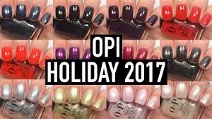 Opi Love Opi Xoxo Holiday 2017 Swatch And Review Youtube