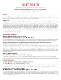Tv Production Resume Examples Tv Producer Resume Magdalene Project Org