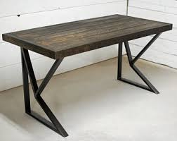 Perfect Reclaimed Office Desk Wood Industrial Rustic Furniture Table Inside Innovation Ideas