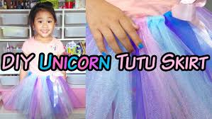 diy no sew unicorn tutu skirt