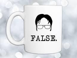 dwight schrute false coffee mugcoffee mugs never lie the office coffee mugs r41 coffee