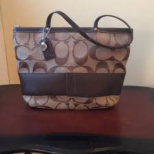 Authentic Coach medium sized monogram tote