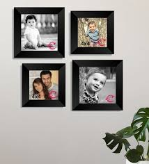 black wood wall collage photo frame