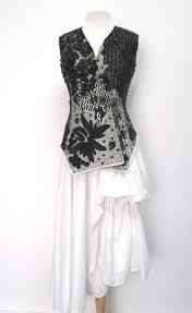 Elm Design Clothing Peachoo Krejberg Beaded Vest With Elm Design White
