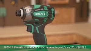 hitachi wr18dbdl2. hitachi wh18dbdl2 18v lithium ion brushless triple hammer impact driver wr18dbdl2