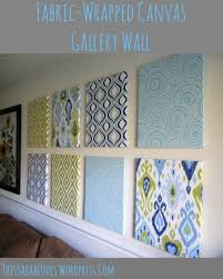 fabric wrapped canvas wall panels side