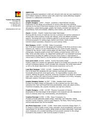 Sample Resume For Experienced Graphic Designer Refrence Graphic