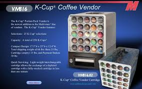 Kcup Vending Machine Mesmerizing Multi Max Catalog