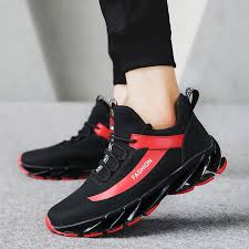 2019 spring mens best running shoes mid top gym shoes outdoor for men black white mens trainers running pu leather athletic men from jinzoug