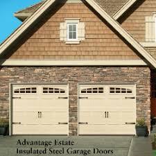 almond garage doorAdvantage Estate Insulated Steel Carriage Doors  Carriage Garage