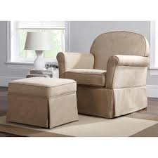swivel glider chair. Dorel Beige Microfiber Swivel Glider Chair With Ottoman | Shop Your Way: Online Shopping \u0026 Earn Points On Tools, Appliances, Electronics More